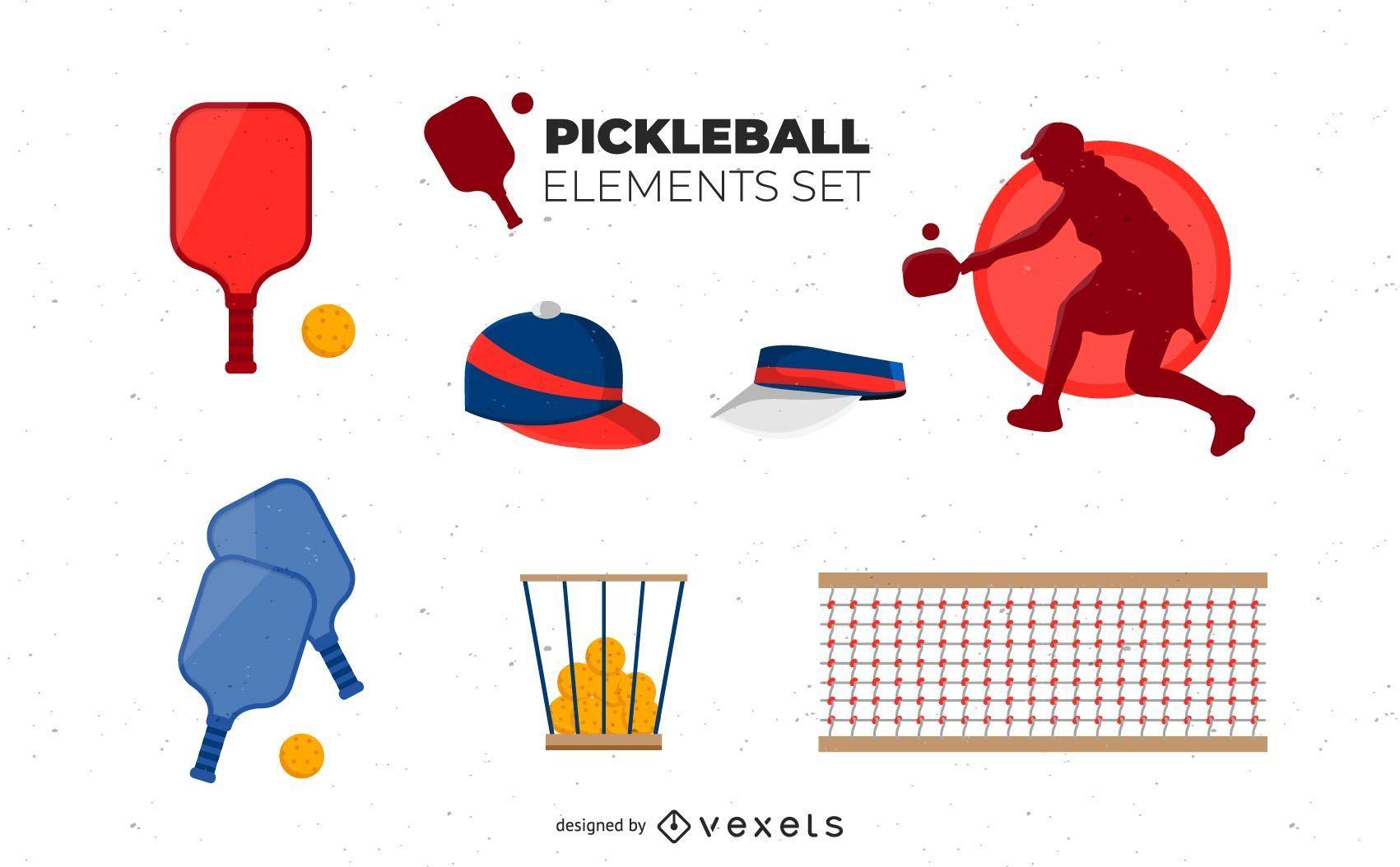 Pickleball Elements Set