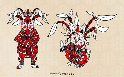 Chinese Opera Zodiac Animal Set
