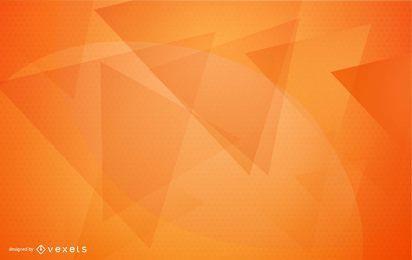 Design de fundo geométrico laranja