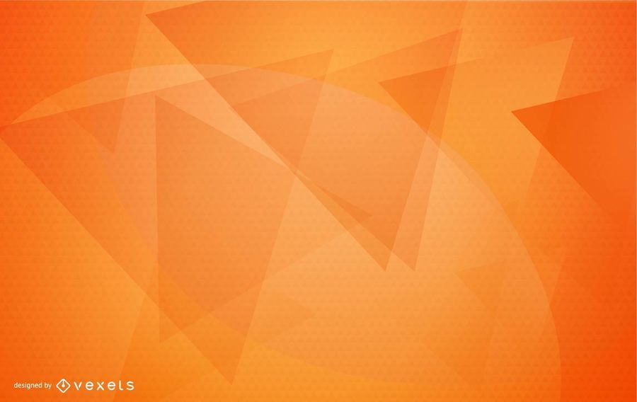 Diseño de fondo geométrico naranja