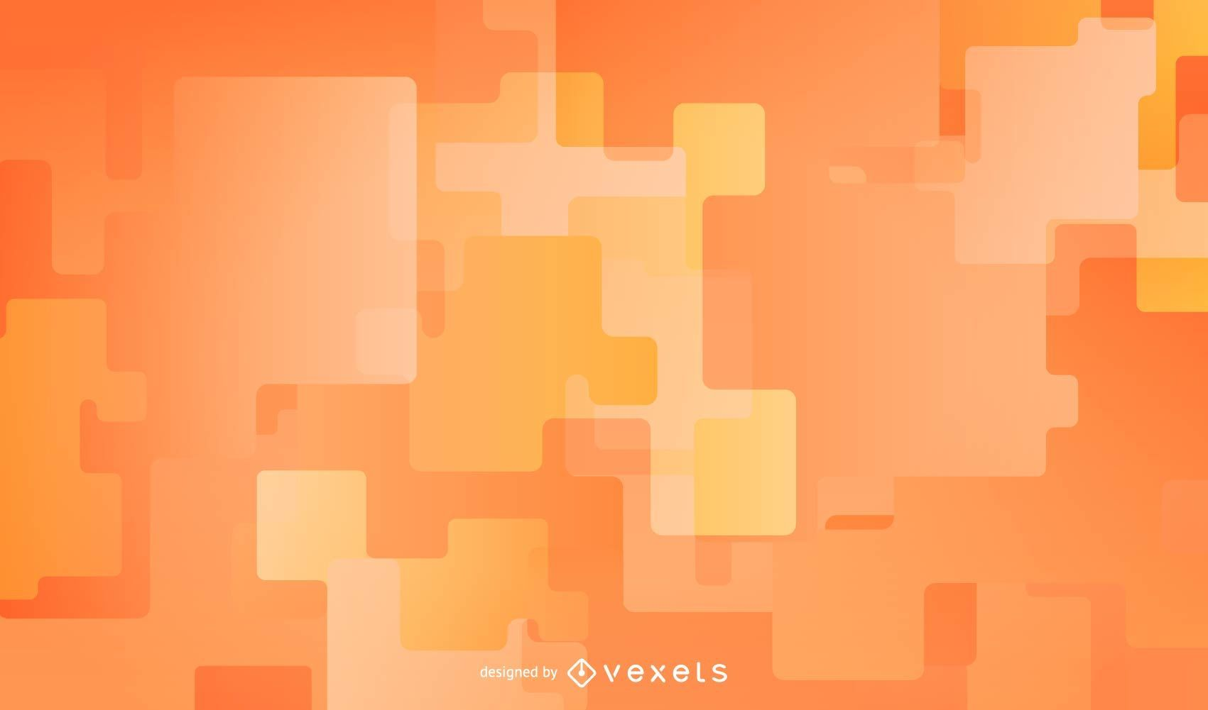 Design de fundo laranja abstrato
