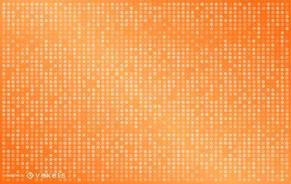 Design de fundo laranja pontilhado