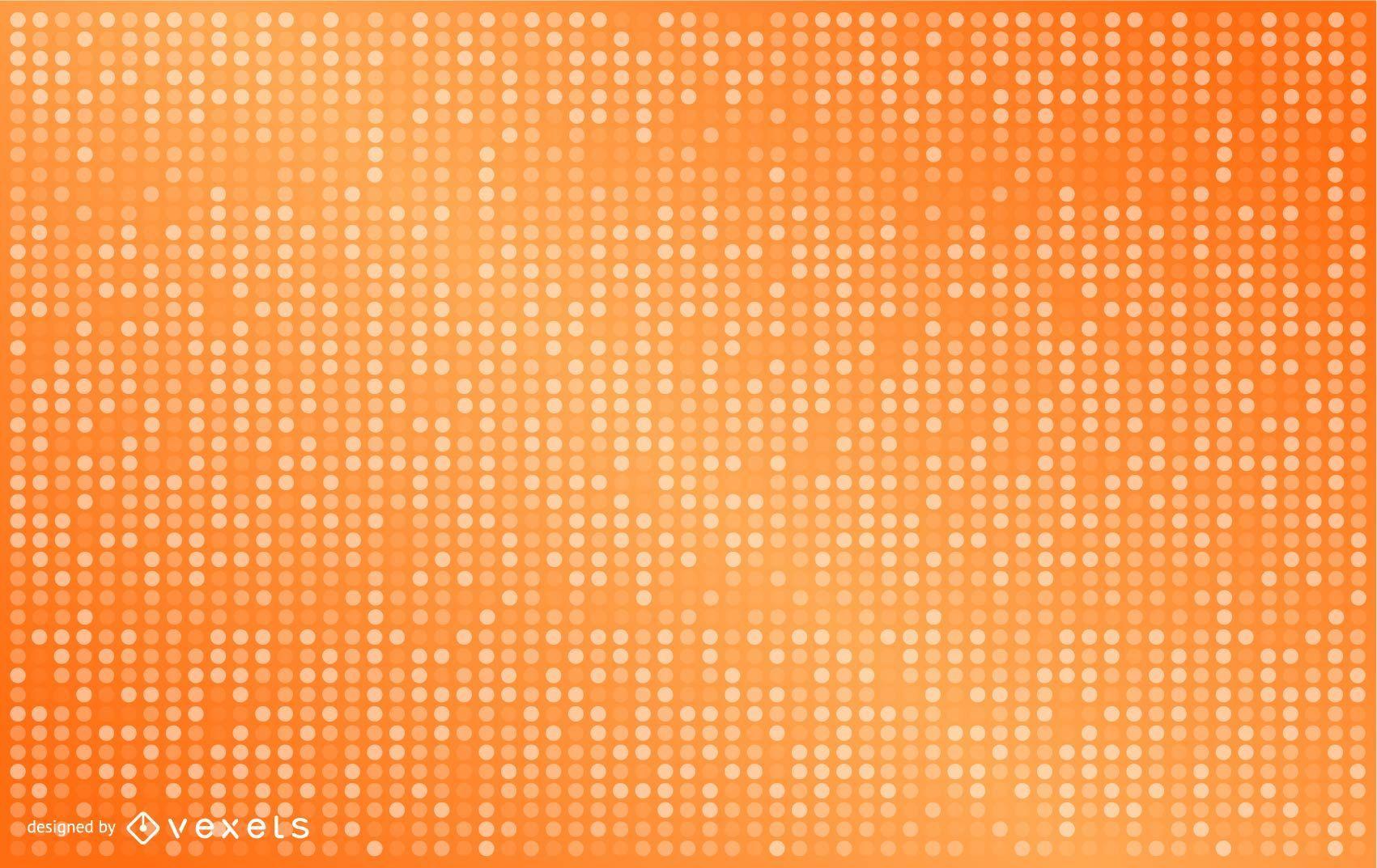 Diseño de fondo naranja punteado