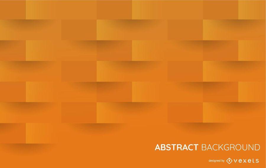 Fundo de formas 3D laranja
