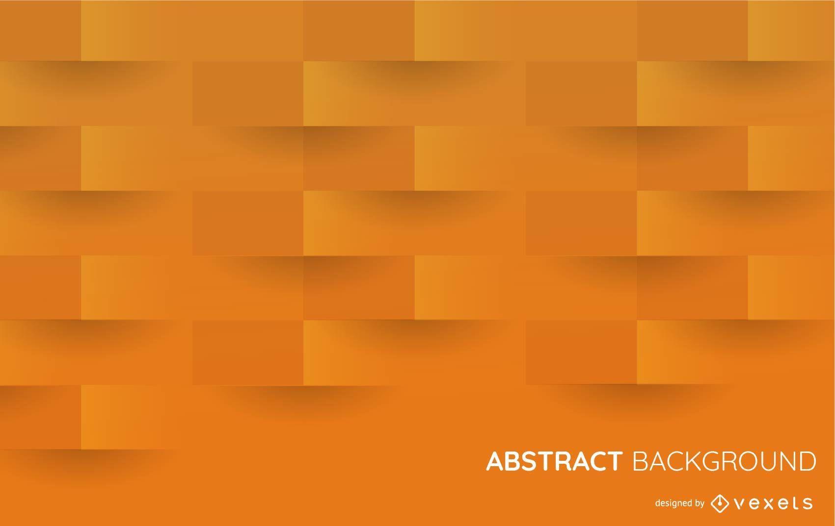 3D orange shapes background