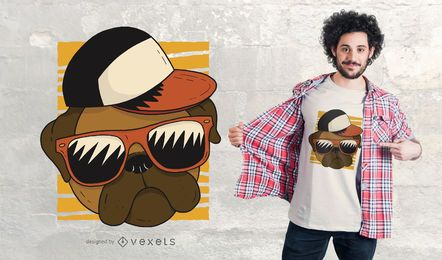 Design legal do t-shirt do Pug