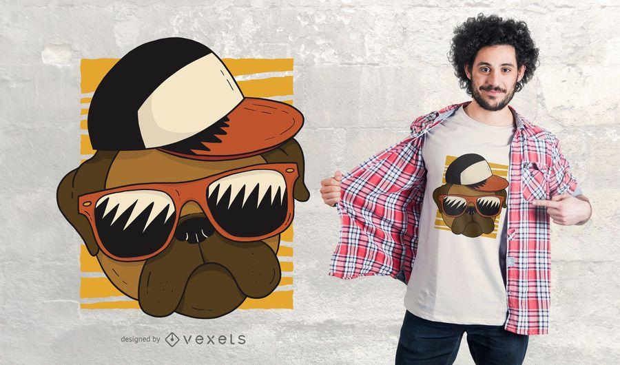 Diseño de camiseta Cool Pug