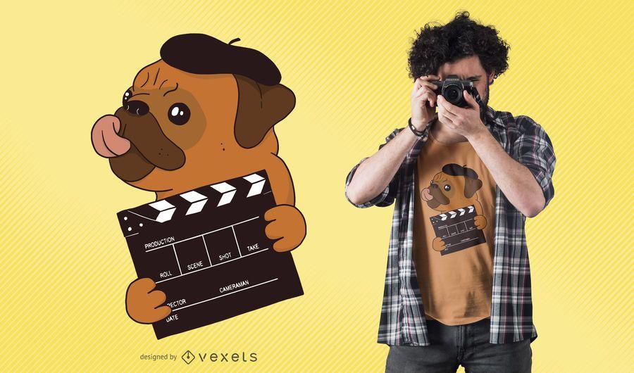 Director Pug T-Shirt Design