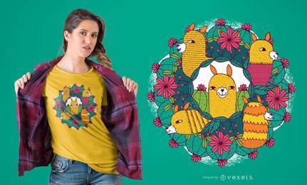 Lama-Mandala-T-Shirt Entwurf