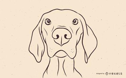 Ilustración del perro Magyar Vizsla