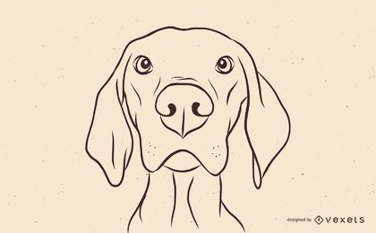 Magyar Vizsla Dog Illustration