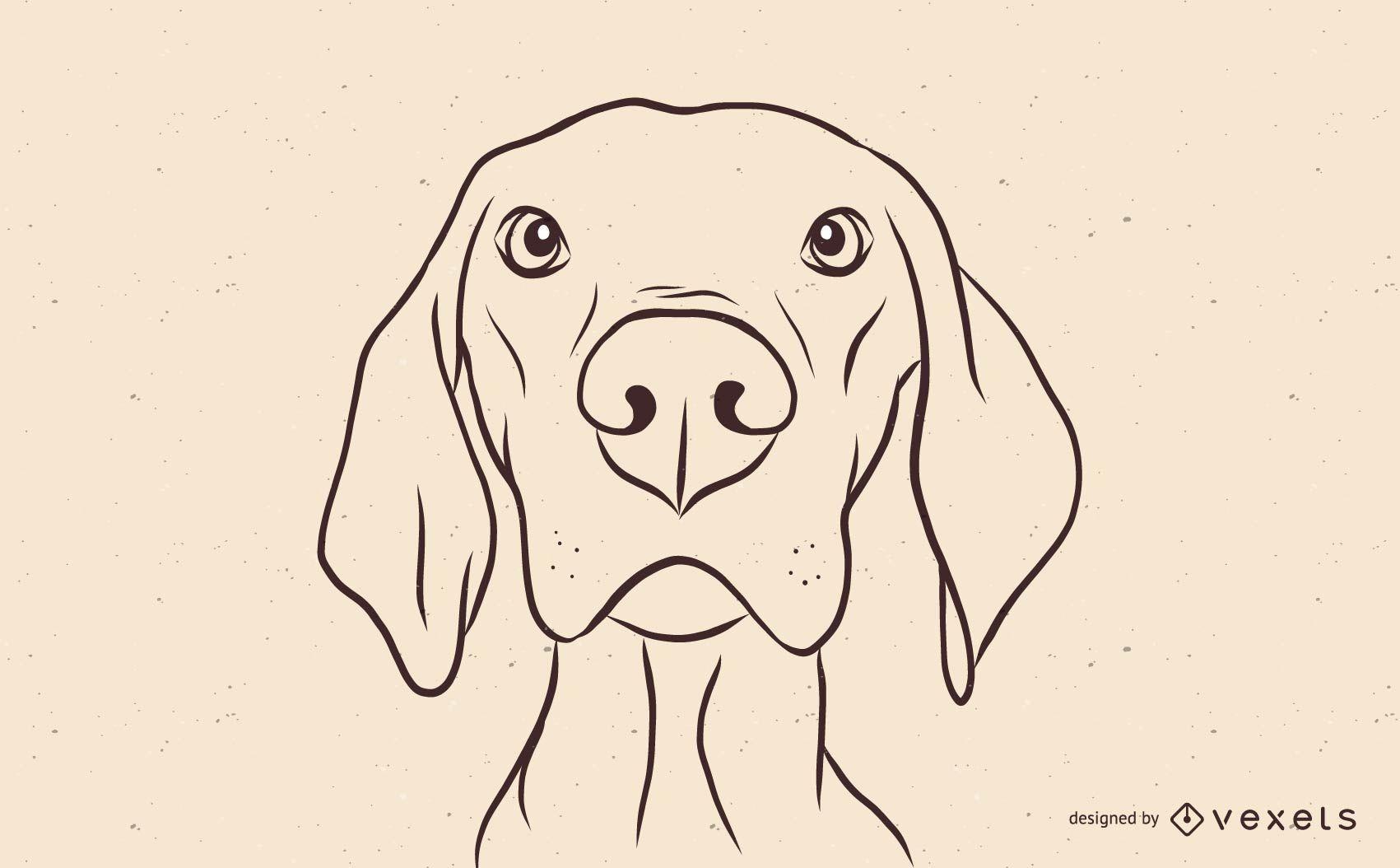 Magyar Vizsla Hund Illustration