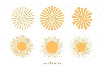 rayo de sol: vectores svg