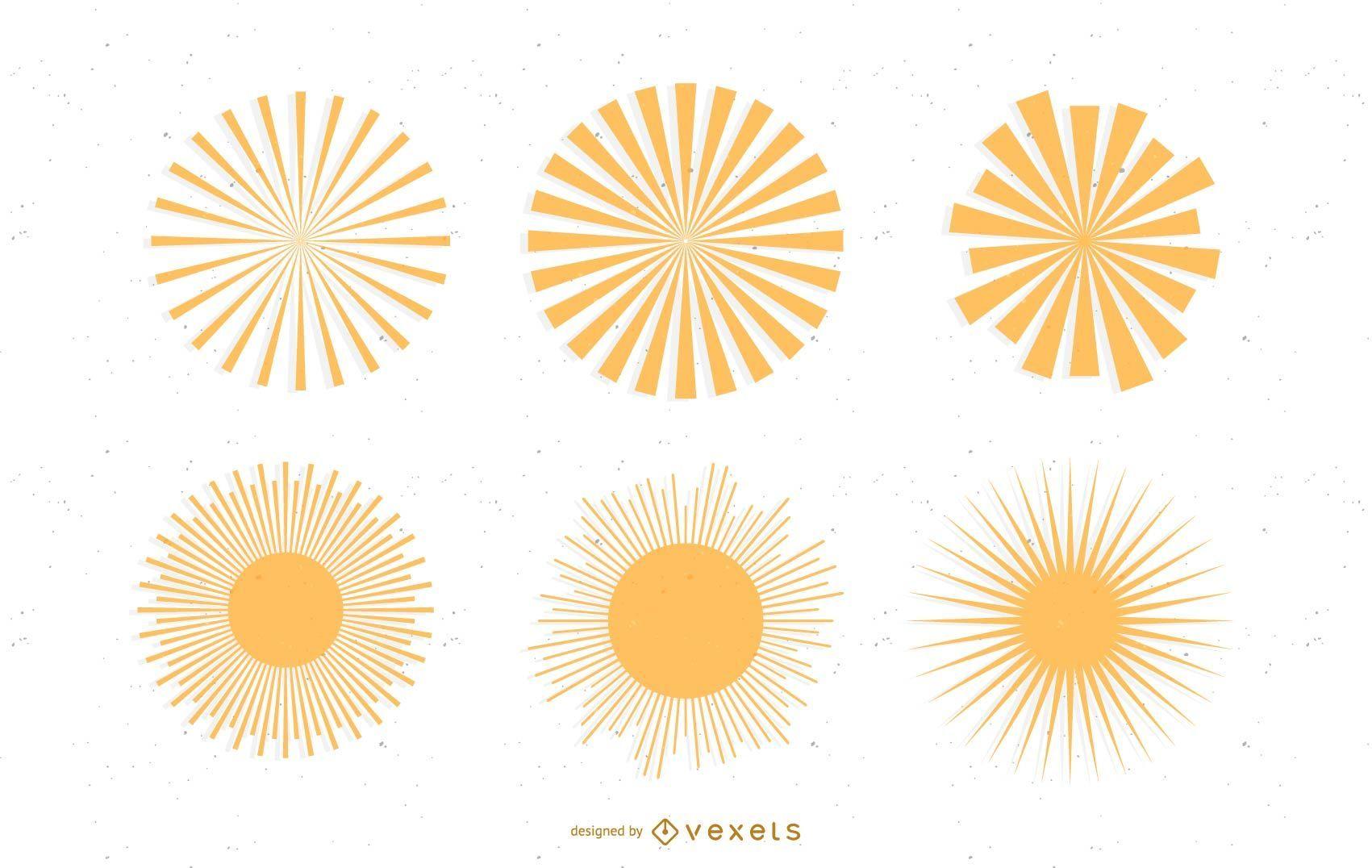 sun ray: svg vectors