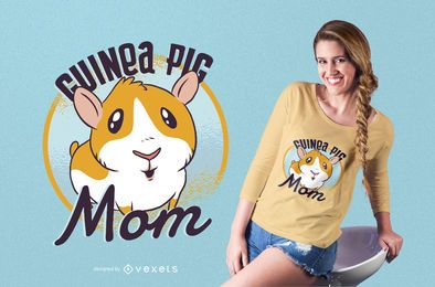 Meerschweinchen-Mutter-T-Shirt Design