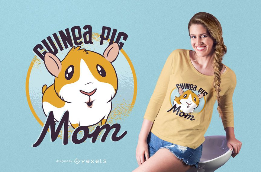 Diseño de camiseta de conejillo de indias de mamá