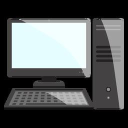 Icono de escritorio de computadora en blanco y negro