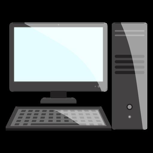 Ícone da área de trabalho do computador preto e branco Transparent PNG
