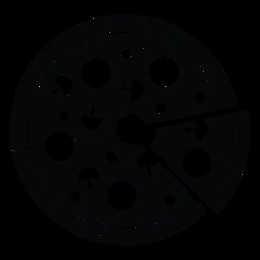 Ícone de pizza preto e branco Transparent PNG