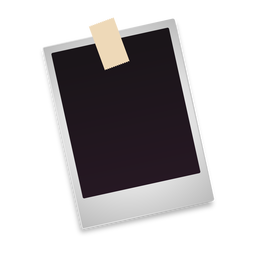 Blank polaroid photo icon