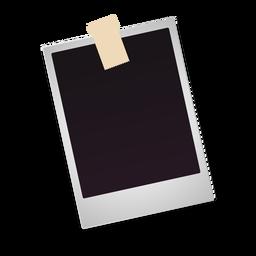 Icono de foto polaroid en blanco