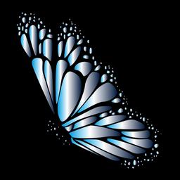 Vetor de borboleta detalhada azul