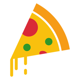 Cheesy pizza icon