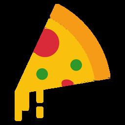 Icono de pizza con queso