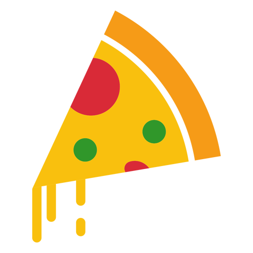 Icono de pizza con queso Transparent PNG
