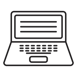 Flat computer laptop icon