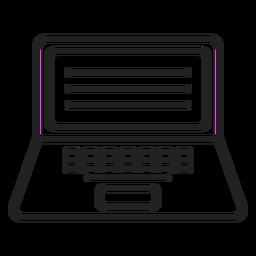 Ícone de computador portátil