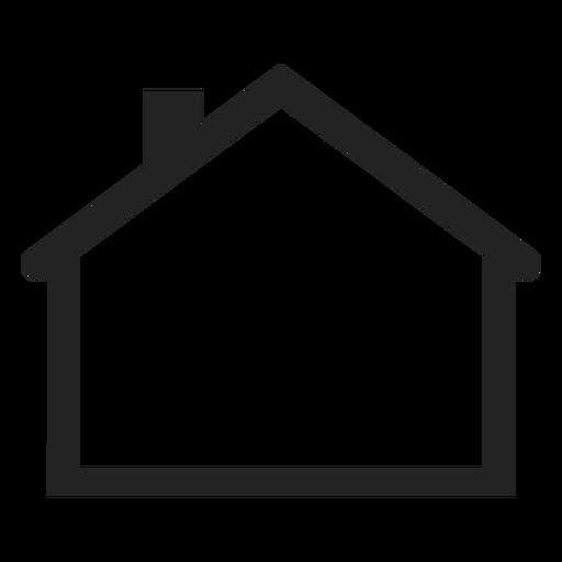 Flaches Haus-Symbol Transparent PNG