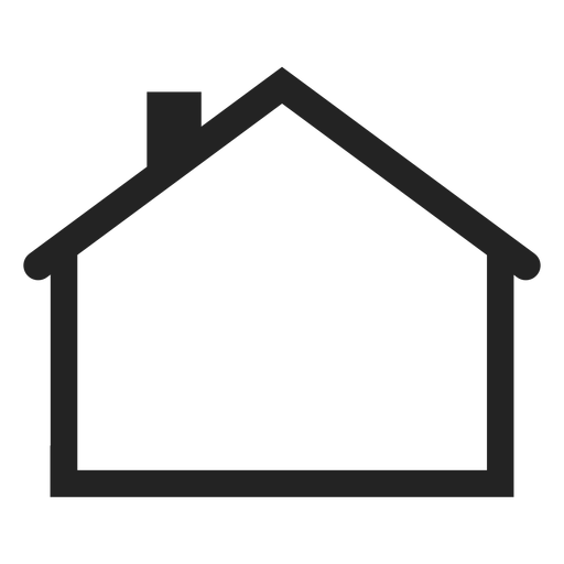 Flat house icon Transparent PNG