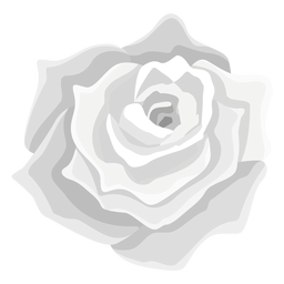 Grey rose flower icon
