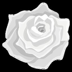 Ícone de flor rosa cinza