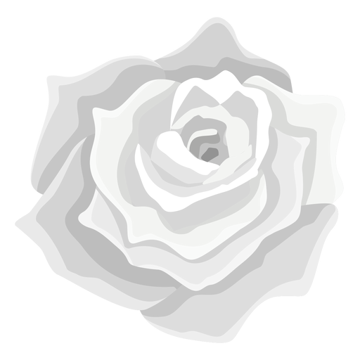 Grey rose flower icon Transparent PNG