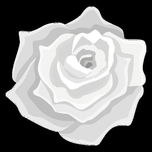 Grey rose flower icon