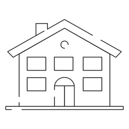 Ícone de linha fina de casa