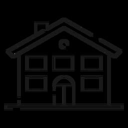 Icono de línea delgada de casa