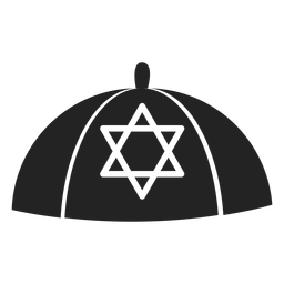 Jüdisches Kippah-Symbol