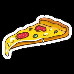 Ilustración de pizza de pepperoni