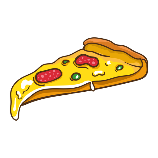Ilustración de pizza de pepperoni Transparent PNG