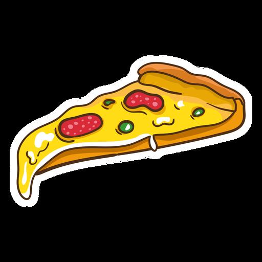 Pepperoni-Pizzaabbildung Transparent PNG