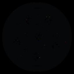 Icono de pizza de pepperoni y champiñones