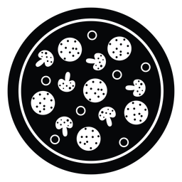 Pepperoni und Pilz Pizza Symbol
