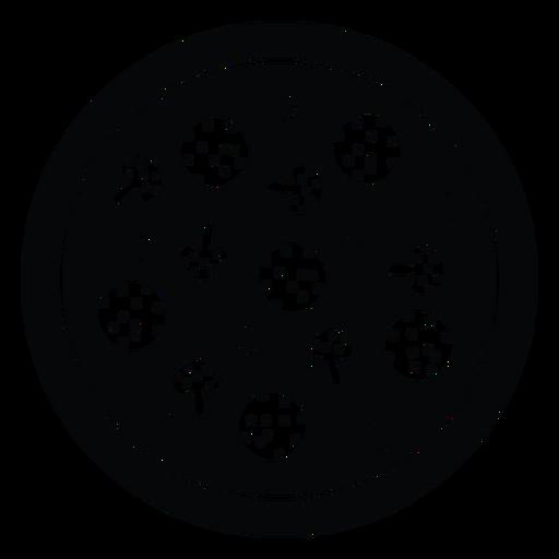 Calabresa e ícone de pizza de cogumelos Transparent PNG