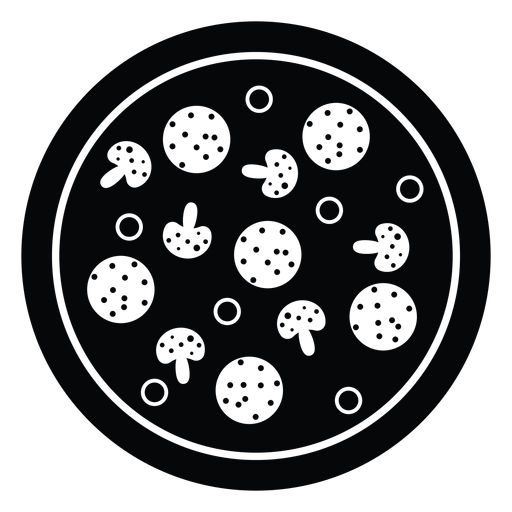 Pepperoni and mushroom pizza icon Transparent PNG