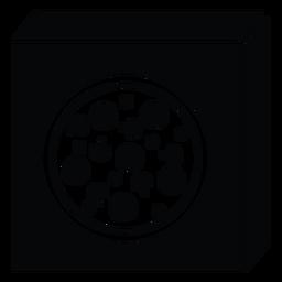 Icono de caja de pizza