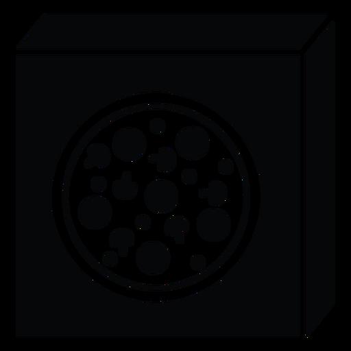 Icono de caja de pizza Transparent PNG