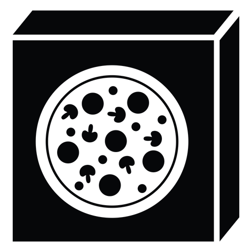 Pizza box icon Transparent PNG